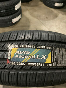 4 New 225 55 17 Yokohama Avid Ascend Lx Tires