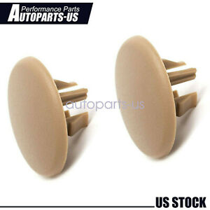 2 Pcs Armrest Rear Seat Beige Cover Cap For Chevy Tahoe Yukon Cadillac 2007 2018