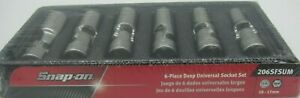 Snap On 206sfsum 6 Pc 3 8 Drive 6 Point Metric Flank Drive Deep Universal Set