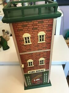 Vintage Wood Wall Fire Extinguisher Cabinet Fire House Fire Department