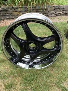 20 X 9 Et25 5x112 Lowenhart Lsr Used Black And Chrome Mercedes Rim 20x9 Inch Rim