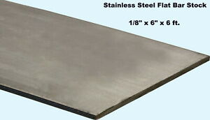 Stainless Steel Flat Bar Stock 1 8 X 6 X 6 Ft Rectangular 304 Mill Finish