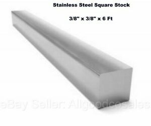 Square Stock 304 Stainless Steel 3 8 X 3 8 X 72 Solid Square 6 Ft Long Bar
