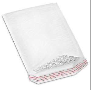 Lot Of 100 Bubble Mailers Envelopes White 6 X 10 0