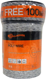 Gallagher G620300 Electric Polywire Fence Combo Roll 1312 feet 328 Free Wh