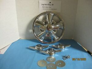 4 Spinners Center Caps 2 Bar Dome Flauted For The Vintage Cragar Ss Wheels
