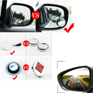 2x Blind Spot Mirror Auto 360 Wide Angle Convex Rear Side View Car Suv Truck