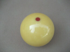 Vintage Gear Shift Knob 2 Pool Ball 3 8 16tpi Yellow With Red Dot Old Part 497b