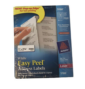 Avery Easy Peel Mailing Address Labels Laser 1 X 2 5 8 White Sealed Read