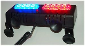 Red Blue Led Visor Strobe Light Bar Hazard Emergency Warning Deck Dash Car Truc