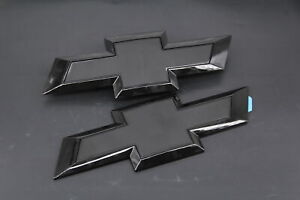 Black Front Tailgate Bowtie Emblem For 2016 2019 Gm Chevy Silverado 1500