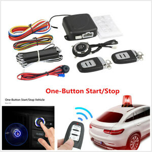 Usa Car Alarm System Security Keyless Entry Push Button Remote Engine Start Kit