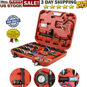 28pcs Adapters Radiator Pressure Tester Kit Coolant Vacuum Type Cooling System