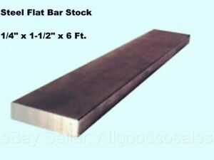 Steel Flat Bar Stock 1 4 X 1 1 2 X 6 Ft Rectangular Unpolished 1018 Alloy