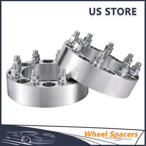 2pcs 2 8 Lug Wheel Spacers Adapters 8x6 5 14x1 5 For Chevy Gmc Ram 2500 3500
