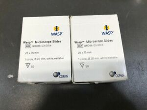 Lot Of 2 Wasp Copan Microscope Slides Wr086 03 0014 25mm X 75mm 50 pack