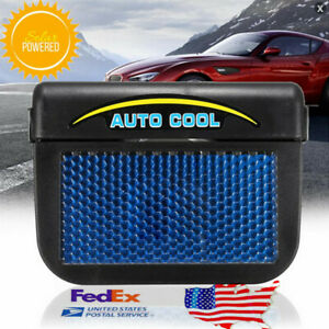 Us Solar Powered Car Air Vent Cool Fan Windshield Cooler Radiator 7z 754