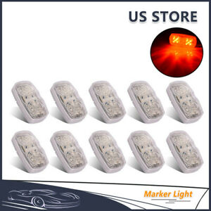 10pcs Red 12 Led Truck Trailer Clearance Marker Light Stop Turn Tail Brake Lamp