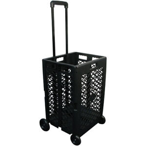 Olympia Tools 85 404 Pack n roll Portable Folding Mesh Rolling Storage Cart Blk
