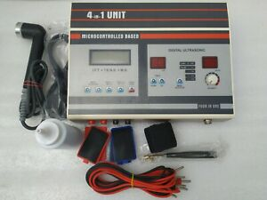 Digital Ultrasound Therapy Machine 1mhz Ift Ms Tens 4 In 1 Unit Combo Set