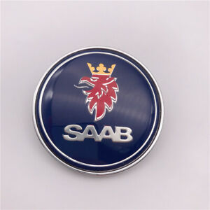 1pc Custom Blue Saab 9 3 900 9000 Hood Front Emblem 50mm Oem 4522884
