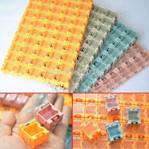 Drop Shipping 100pcs Smd Smt Component Container Storage Boxes Electronic Case