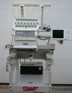 Swf 1501c Swf e t1501c 15 Needle Commercial Embroidery Machine W Extras