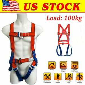 Fall Protection Safety Construction Roofing Harness Lanyard Combo Us
