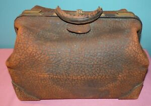 Vintage Antique Walrus Leather Doctor S Medical Physician S Bag