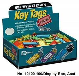 Lucky Line 10100 Key Tag With Split Key Ring Extra Strength 100 Per Box New