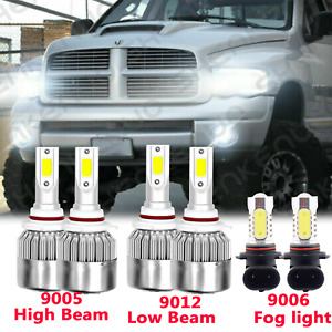 For Dodge Ram 1500 2500 3500 2013 2014 2015 Led Headlight Fog Light Bulbs 6x
