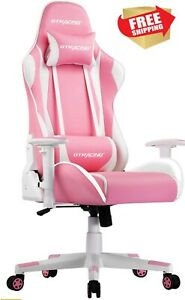 Gtracing Gaming Chair Racing Office Computer Game Chair Esports Pink