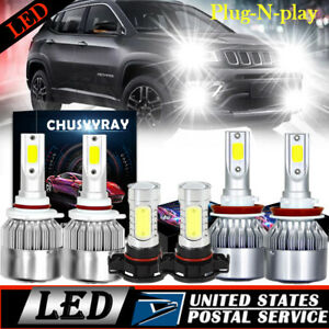 For Jeep Grand Cherokee 2011 2013 Led Headlight Fog Light Bulb Pkg High