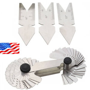 4pcs 55 60 Inch Screw Thread Pitch Cutting Gauge Tool Centre Gage New