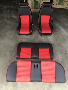 1999 2004 Ford Mustang Gt Red Front Rear Seats