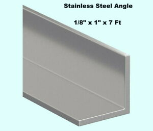 Stainless Steel Angle Iron 1 8 X 1 X 7 Ft 90 Hot Rolled 304 Mill Finish