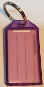Lucky Line 6050065 purple Key Tag With Flap Split Ring 100 box 1 ea New