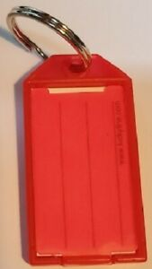 Lucky Line 6050070 red Key Tag With Flap Split Ring 100 box 1 ea New