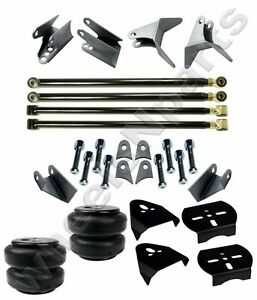 4 Link Rear Triangulated Kit Custom Suspension Brackets Air Lift D2500 Air Bags