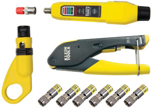 Klein Tools Vdv002 818 Coax Cable Tester Cable Installation Kit Cable Strippe