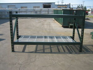 4 Section Ridgurak Pallet Rack 32 L X 5 t X 40 Deep5 Uprights 16 Beams 16 Wire