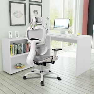 Mesh Office Chair Ergonomic Office Chair Executive High Back Chair Grey