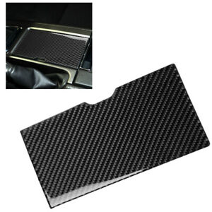 Car Carbon Center Console Water Cup Holder Cover Trim For Ford Mustang 2009 2013