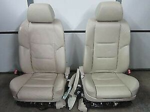 02 03 04 05 Bmw 745i 745li Tan Front Heated Automatic Seats With Seat Belts