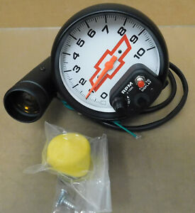 Gm Autometer 5899 00406 Bowtie Phantom Shift Lite Tach 10 000 Rpm 5 Dia
