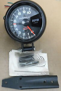 Gm autometer 3700 Bowtie Sort Comp Tach 10 000 Rpm 3 3 8 Dia