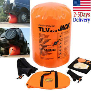Us 4 Ton Exhaust Pump Dual Inflatable Air Jack Bag Car Vehicle Truck Rescue Tool