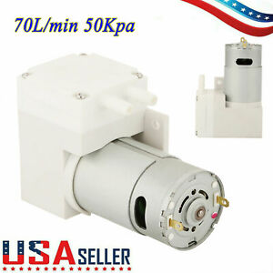 12v Dc Noiseless Mini Vacuum Pump Negative Pressure Suction Pump 7l min 50kpa