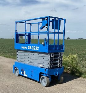 2011 Genie Gs 3232 32 Electric Scissor Lift Aerial Manlift Outriggers Bidadoo