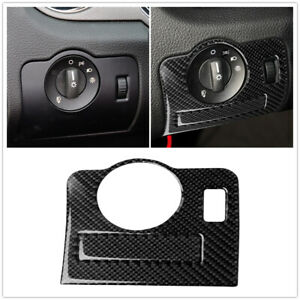 Car Carbon Fiber Headlight Switch Trim Decor Cover For Ford Mustang 2009 2013 Us